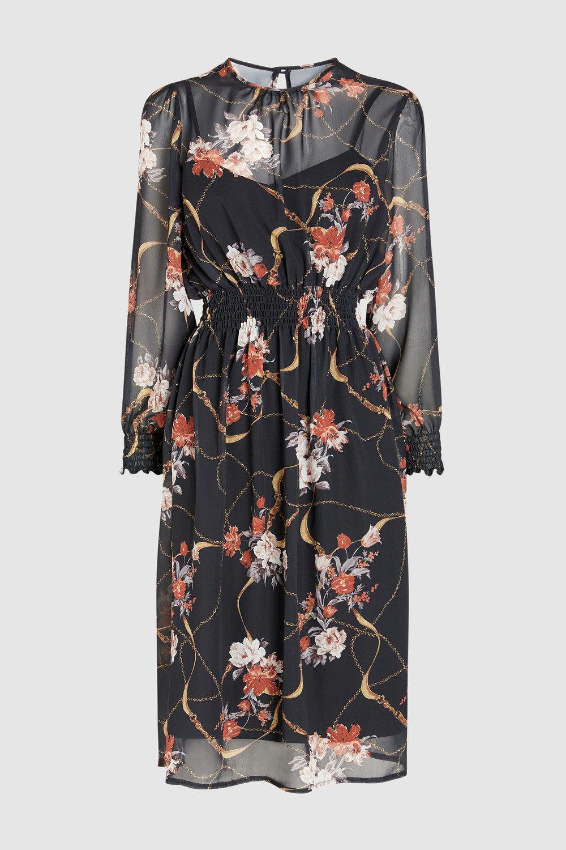 4474effaed76 Next Print Sheer Midi Dress Online   Shop EziBuy
