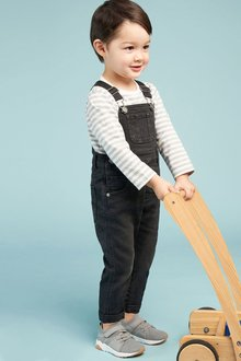 Next Dungarees And Stripe T-Shirt Set (3mths-6yrs)