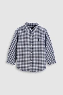 Next Gingham Long Sleeve Oxford Shirt (3mths-6yrs)