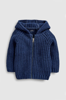 Next Chenille Zip Through Hoody (3mths-7yrs)