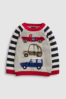 Next Crochet Car Jumper (3mths-7yrs)