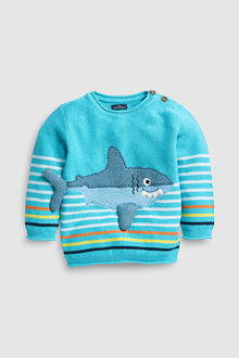 Next Shark Knitted Jumper (3mths-7yrs)