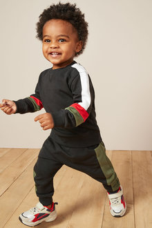 Next Colourblock Crew and Jogger Set (3mths-7yrs)