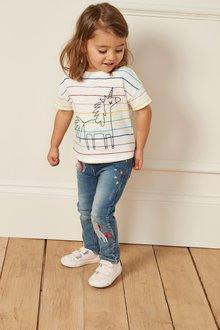 Next Stripe Unicorn T-Shirt (3mths-7yrs)
