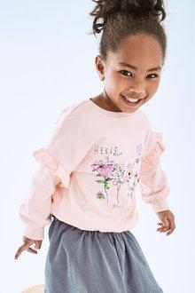 Next Floral Embroidered Sweatshirt (3mths-7yrs)