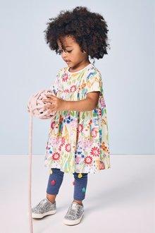 Next Short Sleeve Floral Dress (3mths-7yrs)