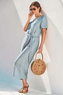Next Linen Blend Jumpsuit-Tall - 228280