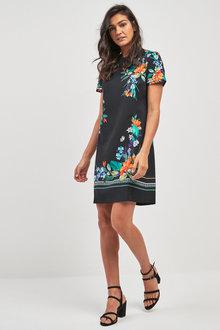 Next Floral Border Print Shift Dress