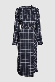 Next Stripe Wrap Dress