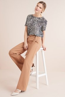 Next Belted Wide Leg Trousers - 228329