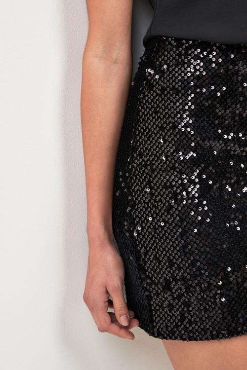 Next Sequin Mini Skirt