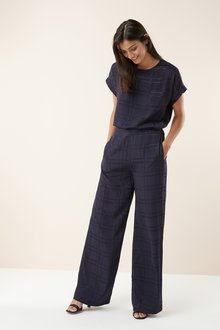 Next Check Wide Leg Trousers - 228483