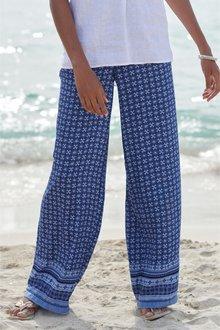Next Geo Print Wide Leg Trousers