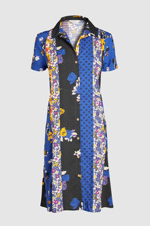 Next Print Mix Shirt Dress-Tall