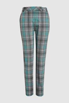Next Check Slim Trousers-Petite