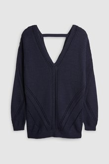 Next Stitch Detail V-Neck Sweater-Petite