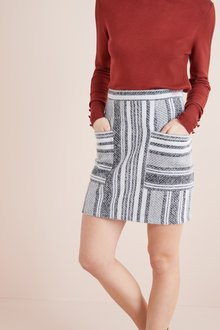 Next Stripe Mini Skirt - 228544