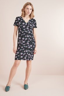 Next V-Neck Shift Dress-Tall - 228555