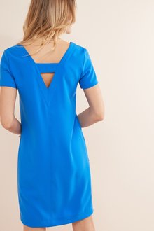 Next V-Neck Shift Dress-Tall