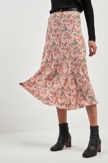 Next Print Midi Skirt