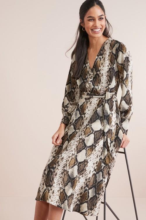 Next Belted Midi Dress