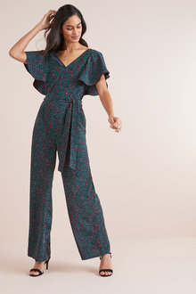 Next Animal Print Jumpsuit
