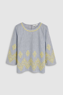 Next Long Sleeve Broderie Top