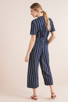 Next Striped Ankle Length Jumpsuit
