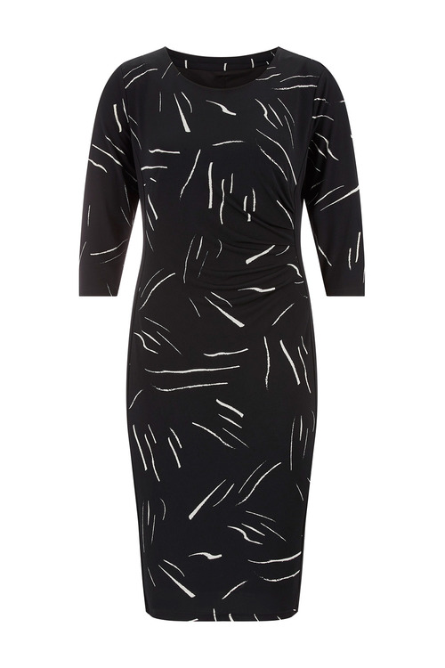 Euro Edit Printed Panel Dress
