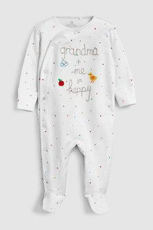 Next Grandma Slogan Embroidered Sleepsuit (5-18mths)