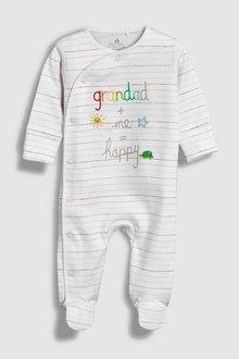 Next Grandad Slogan Embroidered Sleepsuit (5-18mths)
