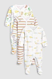 Next Sheep Character Sleepsuits Three Pack (0mths-2yrs)