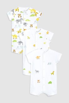 Next Animal Character Rompers Three Pack (0mths-2yrs)