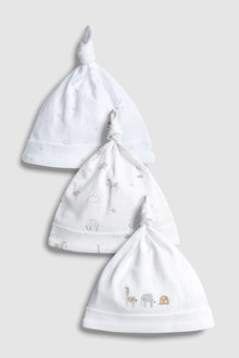 Next Delicate Animals Tie Top Hats Three Pack (5-12mths)