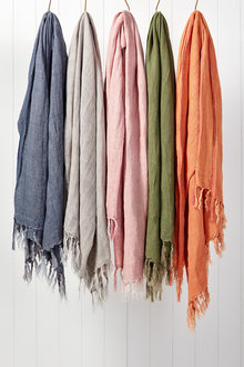 Fringe Linen Throw - 228734