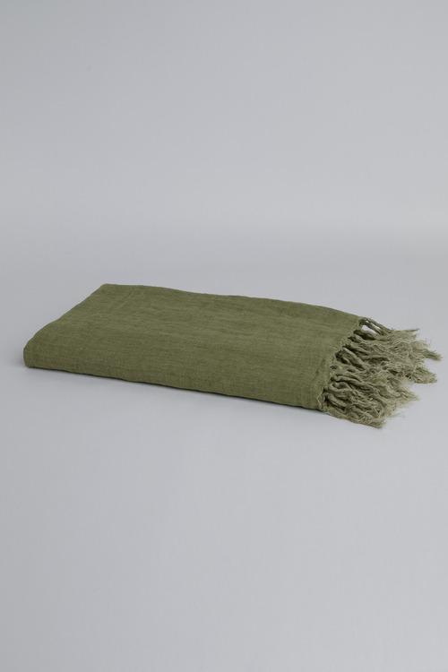 Fringe Linen Throw