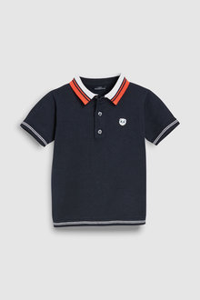 Next Short Sleeve Knitted Polo (3mths-7yrs)
