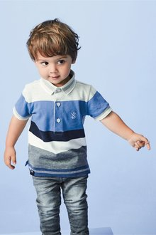 Next Short Sleeve Stripe Polo (3mths-7yrs)
