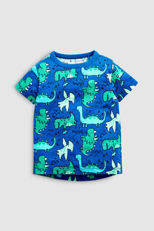 Next Short Sleeve Dino Print T-Shirt (3mths-7yrs)