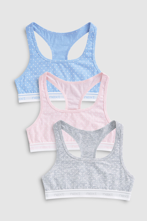 Next Spot Racer Back Crop Top Three Pack (Older)