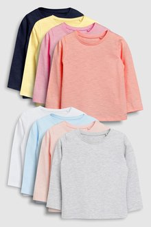 Next Long Sleeve Tops Eight Pack (3mths-7yrs)