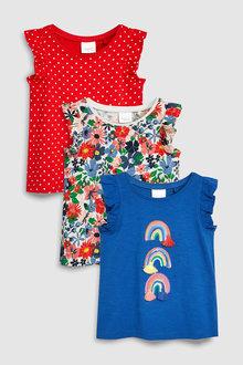 Next Rainbow Short Sleeve T-Shirts Three Pack (3mths-7yrs)