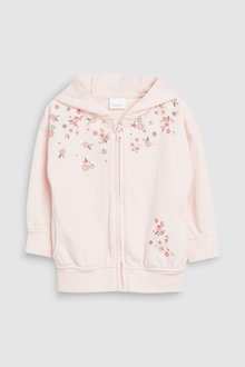 Next Embellished Zip Through Hoody (3mths-7yrs)