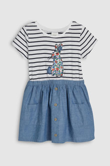 Next Stripe Bunny Dress (3mths-7yrs)