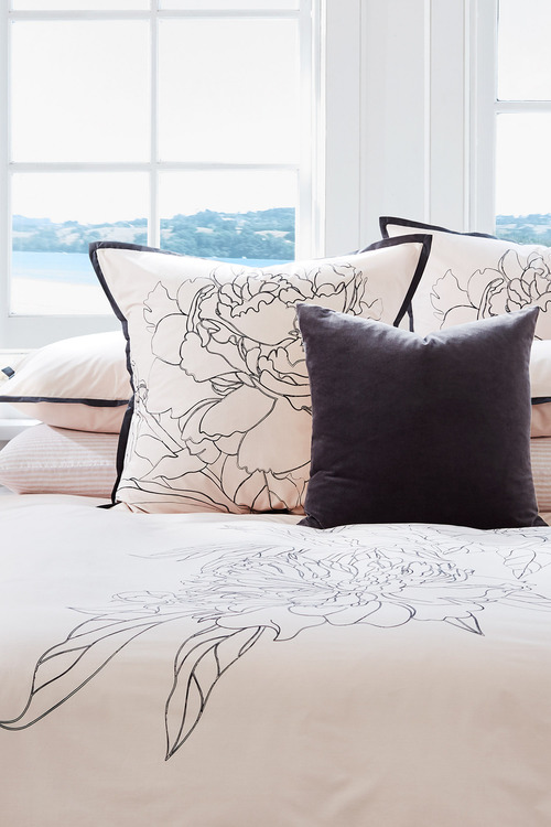 Peony European Pillowcase Pair