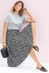 Emerge Midi Printed Skirt