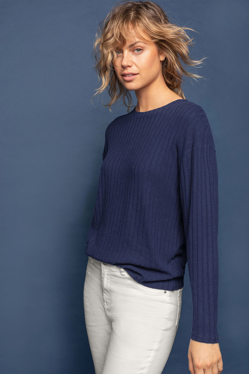 Emerge Striped Rib Sweater