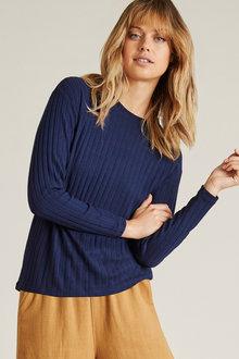 Emerge Striped Rib Sweater - 228878