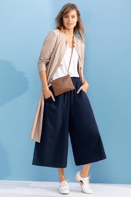Emerge Linen Blend Longline Jacket