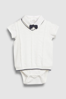 Next Knit Tank, Shirtbody And Bow Tie Three Piece Set (0mths-2yrs)